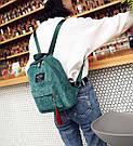 Большой вельветовый рюкзак с брелком., фото 5