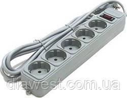 Сетевой фильтр-удлинитель;  число розеток: 5;  длина шнура: 1,8 м;   входная вилка: евро