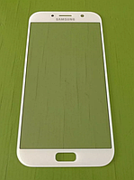 Стекло дисплея (экрана) для Samsung Galaxy A7 2017 A720   A720F (белый цвет)