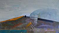 Абстрактный пейзаж, акрил, современная живопись, горный пейзаж, картини на заказ, интерьерная живопись, 40*70