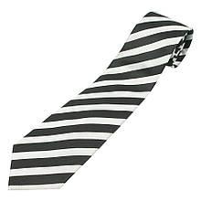 Чорно-біла чоловіча краватка 030С