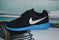 Мужские кроссовки Nike Черные на синем Топ Реплика Хорошего качества, фото 1