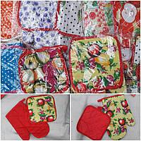 Кухонный набор - прихватка и рукавица, разные расцветки, 35/25 (цена за 1 шт. + 10 гр.)