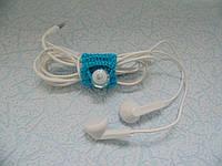 Холдер зажим для наушников или usb кабеля