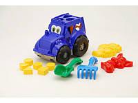 Сортер-трактор Кузнечик №2 (лопатка+грабли+2паски) ДС /24/(0336/cp0020302062)