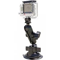 """Держатель на присоске с поворотным (удлиненным) шарниром RAM Mounts """"Twist Lock Suction Cup Mount"""" для камеры GoPro любого поколения (RAM-B-166-GOP1)"""