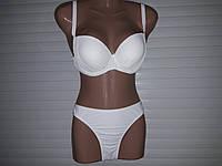 Раздельный женский Белый купальник  с пуш-ап размер на наши 46-48 и 50-52 низкая цена