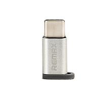 Переходник Feliz RA-USB1 microUSB(F) to Type C(M) Silver Remax 340903