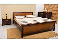 Ліжко Сіті з інтарсією 200*160 бук Олімп, фото 1