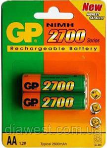 Аккумулятор, зарядное устройство для TV GP Batteries GP270AAHC-2PL2