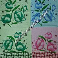 """Махровое кухонное полотенце """"Тюльпаны"""""""