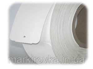 Ярлыки (бирки) картонные 50х85 мм/ 1000 штук в рулонах для маркировки одежды