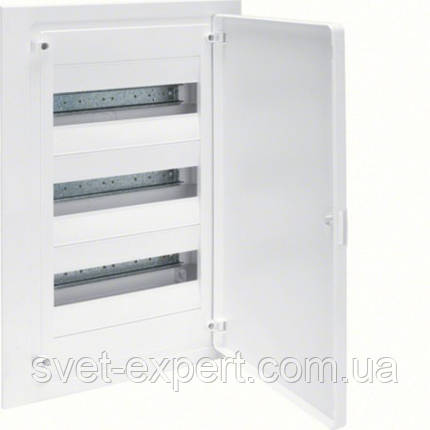 Щит Hager в/у з білими дверцятами, 36 мод. (3х12), GOLF, фото 2