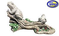 Трио лягушек на ветке дерева