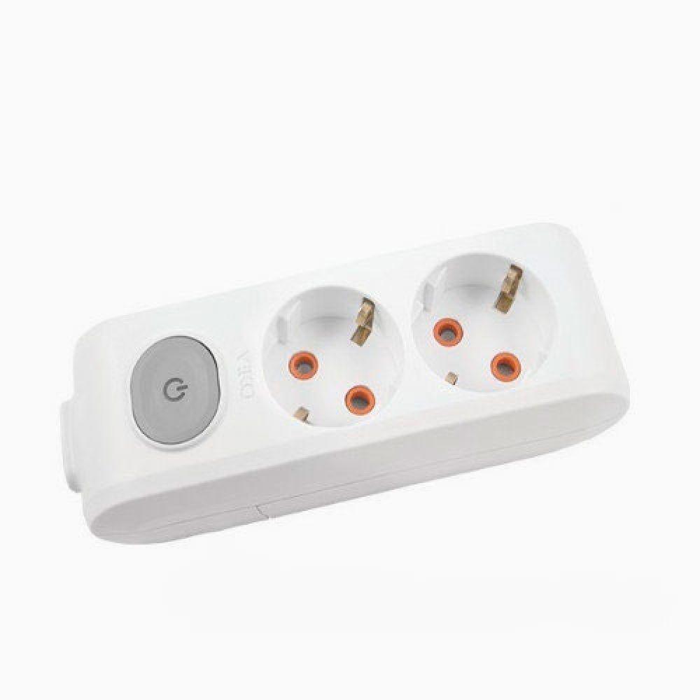 Колодка 2 гнезда с ЗК с кнопкой Viko Multi-Let, 90118200