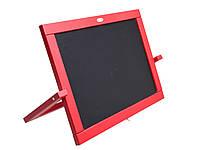 Мольберт двусторон. настольный Красный (магнит, мел) 450*335см(М064)