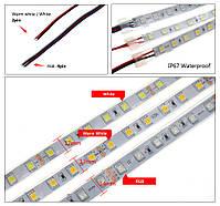 Светодиодная  LED лента 5050SMD 24V 60Led/m  20m White/IP67, фото 4