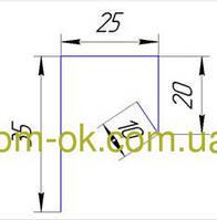Софит металлический цвет- Золотой дуб  Планка завершающая 2м
