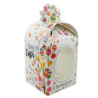 Коробка для упаковки Пасхи Цветы 110*110*140мм