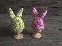 Пасхальный набор для яиц, вязаные шапочки кролик для яиц, пасхальный декор, украшение яиц пасха