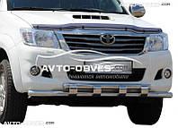 Защитный ус Toyota Hilux 2006-2011 с грилем