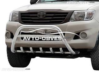 Защитный обвес переднего бампера на Toyota Hilux 2006-2011