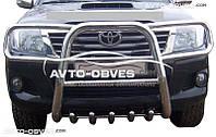 Кенгурятник высокий Toyota Hilux 2006-2011 с защитой фар