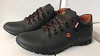 Мужские модные кожаные кроссовки Ecco Biom , черные, фото 1