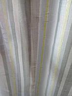 Тюль штора хлопок  серо-оливковый