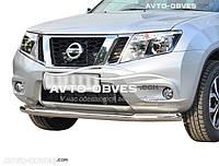 Штатный кенгурятник Nissan Terrano одинарный ус (п.к. V001)