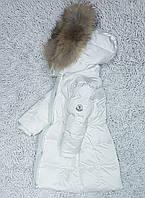 Пуховые белые пальто Монклер , фото 1