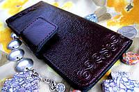 Стильный женский кожаный кошелёк с узором