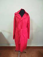 Махровый  халат красного цвета  (L), фото 1