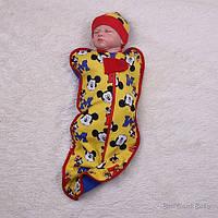 """Кокон для новорожденных """"Микки"""", желтый, фото 1"""