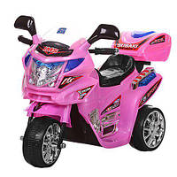 Детский мотоцикл Bambi Розовый (M 0638) с мотором 12W