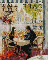 """VP873 """"Французское кафе"""" Картина по номерам 40х50см"""