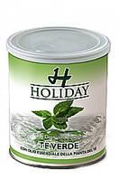 Воск Holiday банка зеленый чай (очень жесткий волос) 800мл.