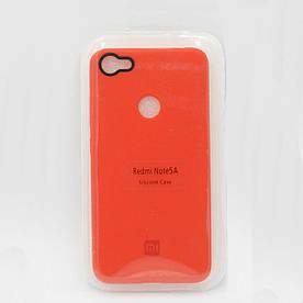 Чехол накладка для Xiaomi Redmi Note 5A PRIME силиконовый, ORIGINAL, красный