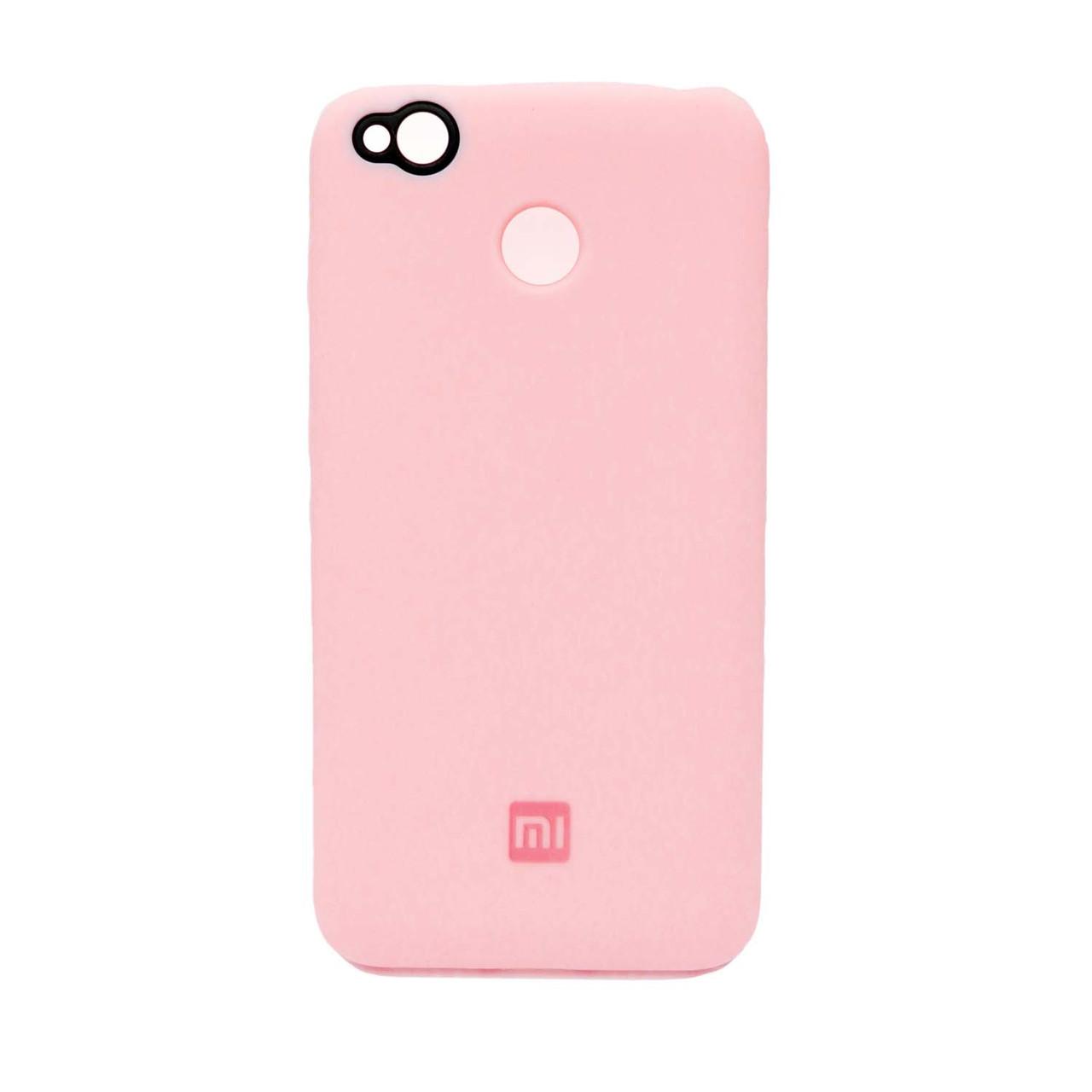 Чохол накладка для Xiaomi Redmi 4X силіконовий, ORIGINAL, рожевий