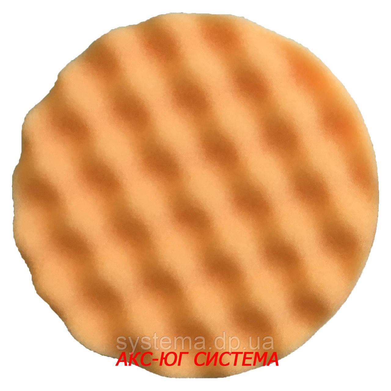 Полировальный рельефный круг оранжевый жесткий 133 мм