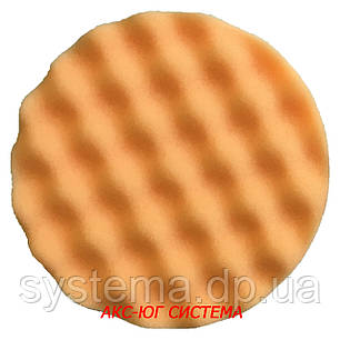 Полировальный рельефный круг оранжевый жесткий 133 мм, фото 2