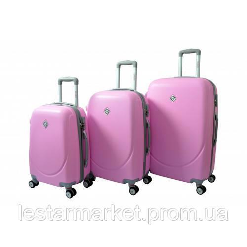 ff88480fd04b Чемодан Bonro Smile с двойными колесами набор 3 штуки розовый ...