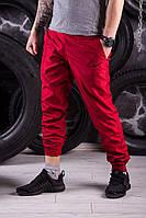Яркие красные спортивные штаны President - плащевка