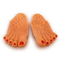 Тапочки Нога человека резиновые