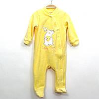 Велюровый человечек для новорожденного р.62