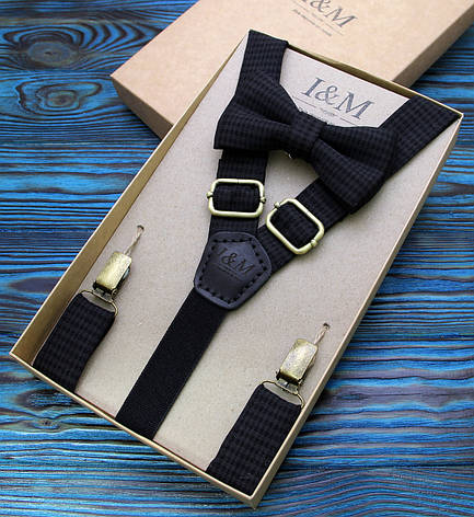 Набор I&M Craft галстук-бабочка + подтяжки для брюк (030238), фото 2