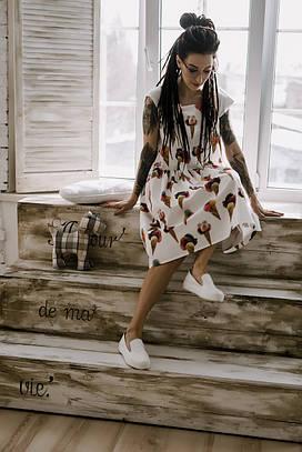 Сарафан фартук жіночий з котон-сатину Морозиво