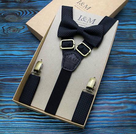 Набор I&M Craft галстук-бабочка + подтяжки для брюк и платок паше (030239), фото 2