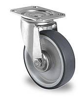 Колесо поворотное с роликовым подшипником 100 мм, полипропилен/термопластичная резина (Германия)