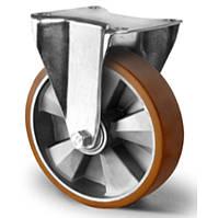 Колесо неповоротное большегрузное с шариковым подшипником 125 мм, алюминий/полиуретан (Германия)